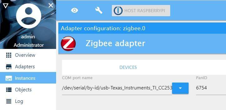 Zigbee Adapter Installing